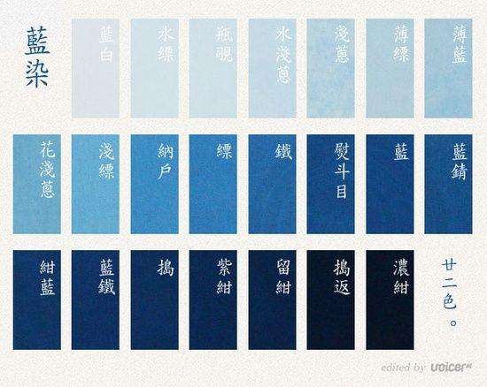 藍の色の名前いろいろ : 藍色工房(あいいろこうぼう) オフィシャルブログ