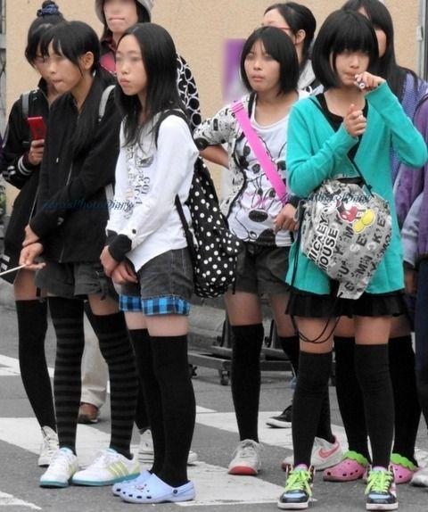 ニーソ 小学生 js JS、JCのニーソックス私服姿が大変エロいという事実…U-15のくせ ...