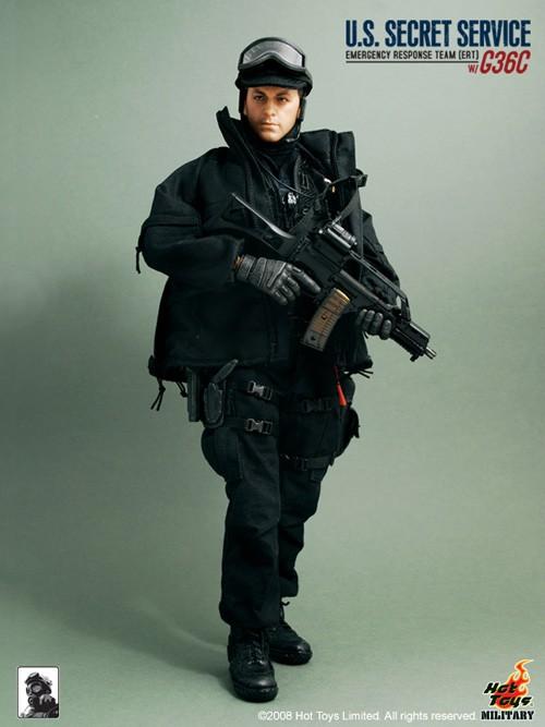 Rifle 36 1//6 Scale Hot toys SECRET SERVICE ERT Male