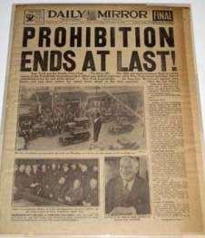 世界規模の禁酒法の1つ…アメリカ合衆国憲法修正第18条(Amendment ...
