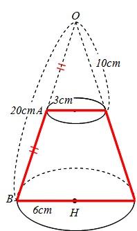 展開 円錐 図 台