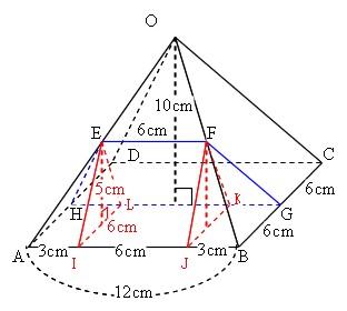角錐 の 表面積 の 求め 方