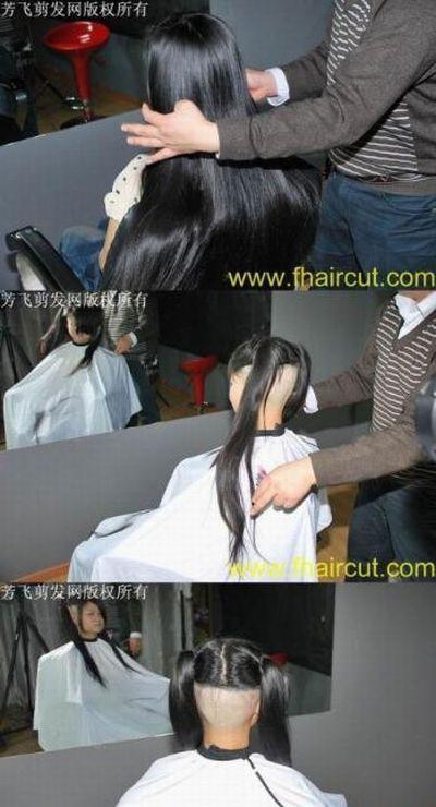 おしゃれ禿げ!? 中国の美人女性のありえないヘアスタイルが