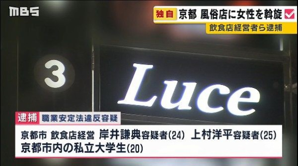 【悲報】 京都の女子大生ら262人、ぼったくりバーに誘い込まれ金払えず風○勤務するハメに