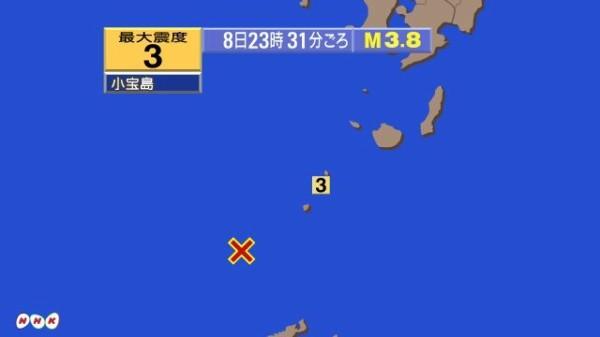 さっきから鹿児島県のトカラ列島近海で地震が相次いでる