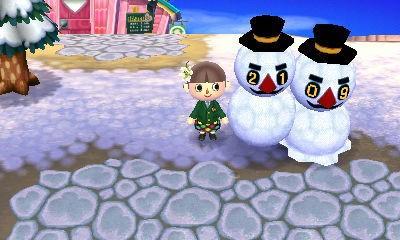 雪だるま とび森