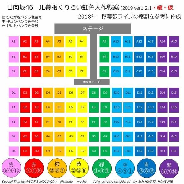 順番 虹 色