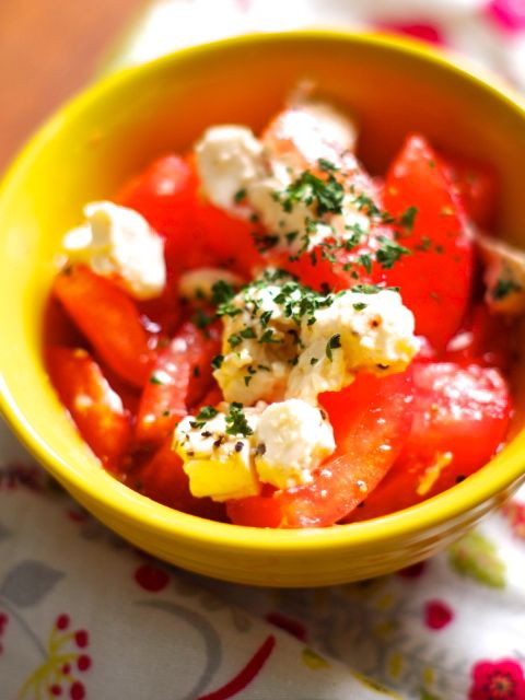 トマト チーズ オリーブ オイル