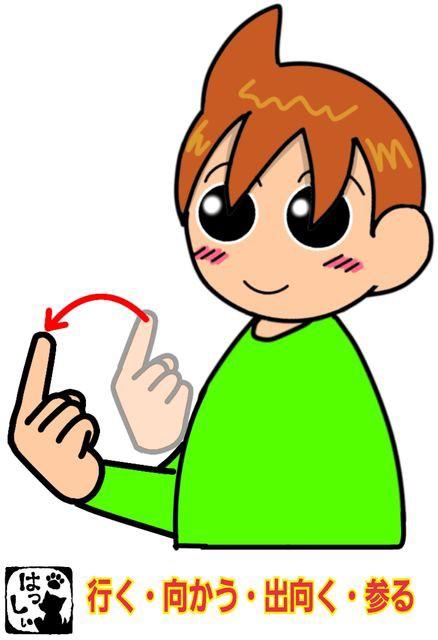 手話単語:41 【行く】【向かう】【出向く】 : 手話しゅわSHUSHUSHU