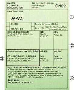 税関 告知 書