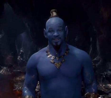 実写版「アラジン」の予告編に登場 「青色のウィル・スミス」が衝撃的