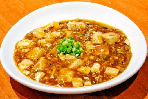 麻婆豆腐グツグツ、四川山椒ショリショリ、炊きたてご飯パカッフワッ、ラー油トットットットッ……