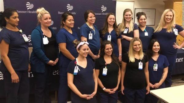 【速報】アリゾナ州の同じ病院で、看護師まんさん16人が「同時に」妊娠してしまう・・・
