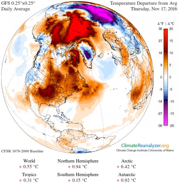 北極圏の異常高温 : ひかたま(光の魂たち)