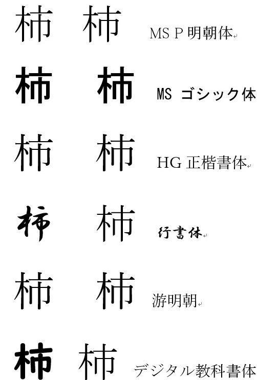 漢字 柿 た に 似