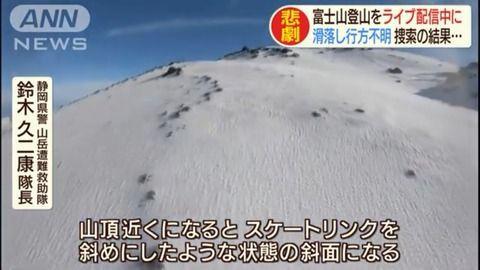 身元 富士山 滑落
