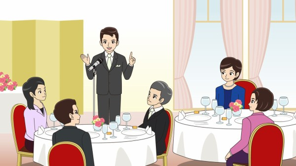 結婚式スピーチのイラスト 披露宴会場 : テレビ番組イラスト・似顔絵 ...
