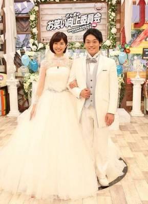 山崎夕貴アナのウエディングドレス「最後は夫に」  みんみん芸