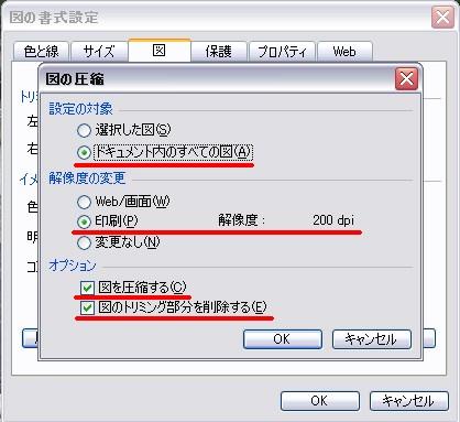 画像を貼り付けたエクセルデータを軽くしたい Ver2003 東奥見聞ログ
