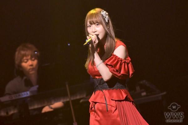 SKE48高柳明音、赤いドレス衣装で『悲しみがとまらない』を熱唱!<AKB48グループ歌唱力No.1決定戦>