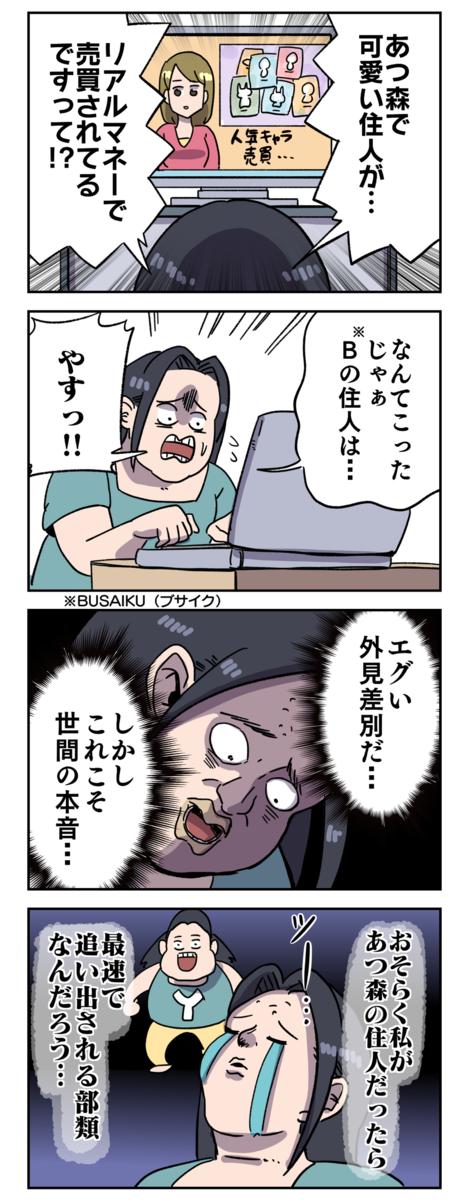 ブサイク あつ森 キャラクター