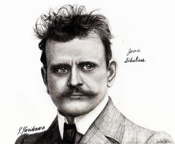 Jean Sibelius ジャン・シベリウス : ネット絵師・独言の鉛筆画