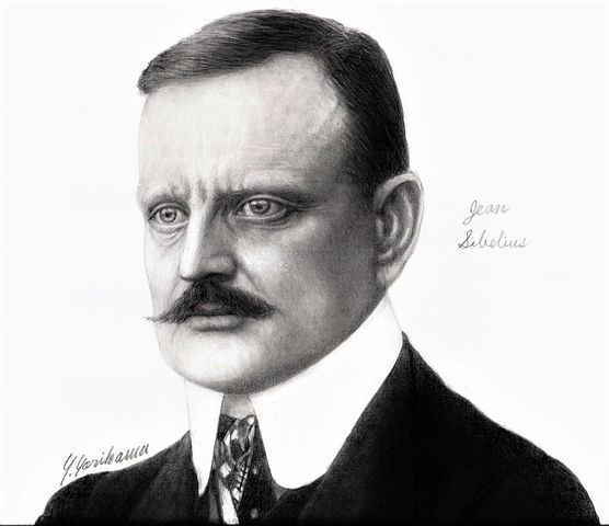 Jean Sibelius ジャン・シベリウス(2) : ネット絵師・独言の鉛筆画